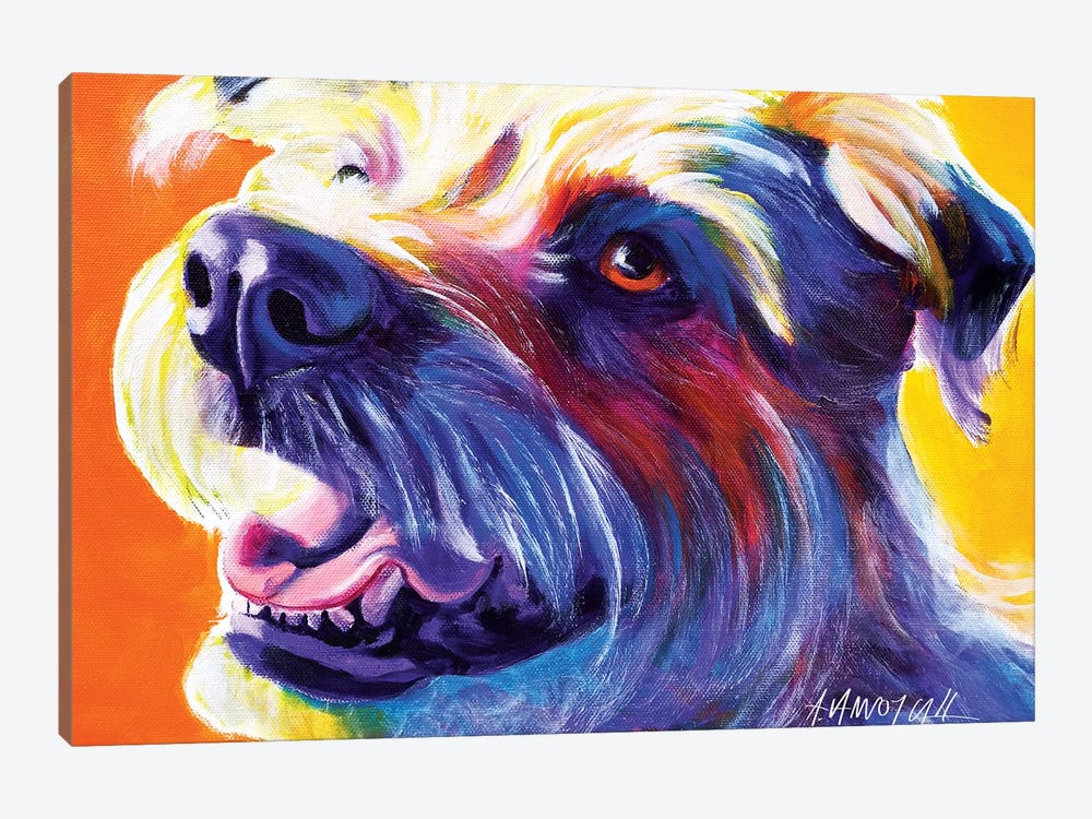 Penny The Wire Hair Terrier by DawgArt 1-piece Canvas Wall Art