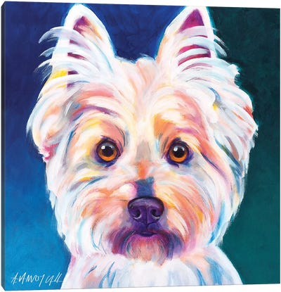 Rockette The Westie Canvas Art Print