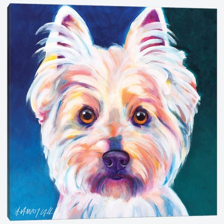 Rockette The Westie Canvas Print #DWG115} by DawgArt Canvas Print