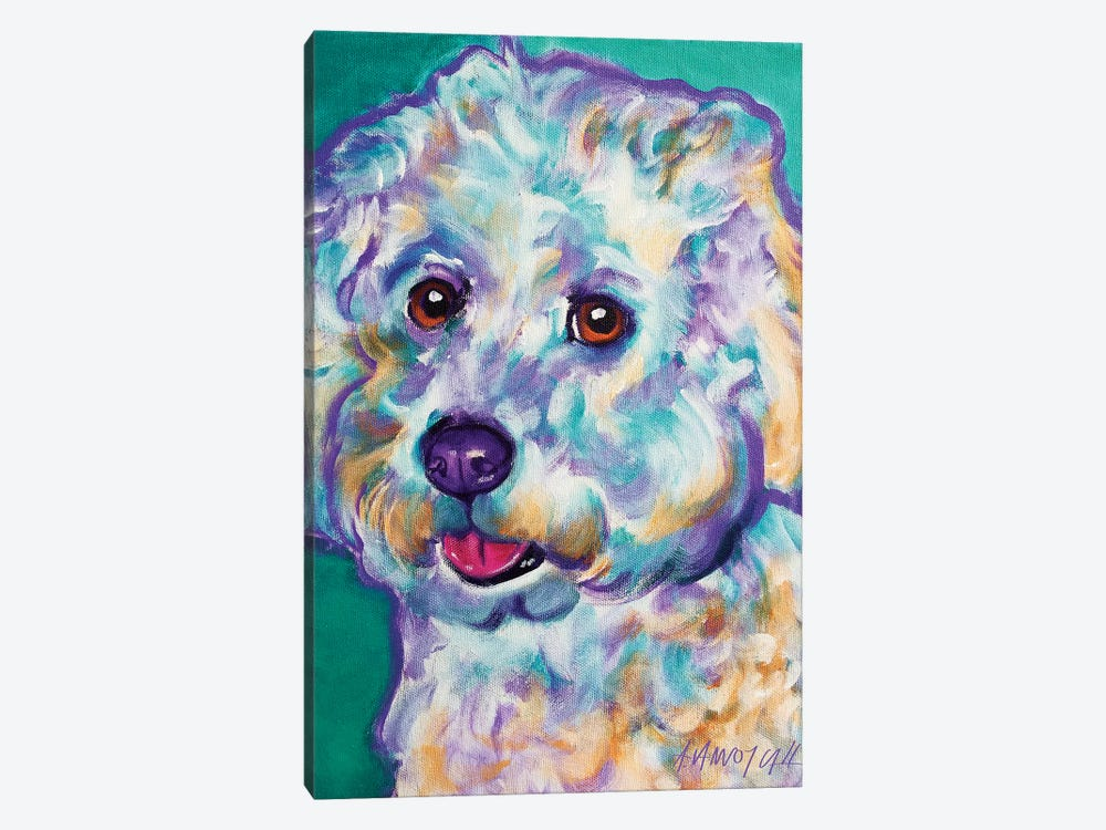 Ruben The Bichon by DawgArt 1-piece Art Print