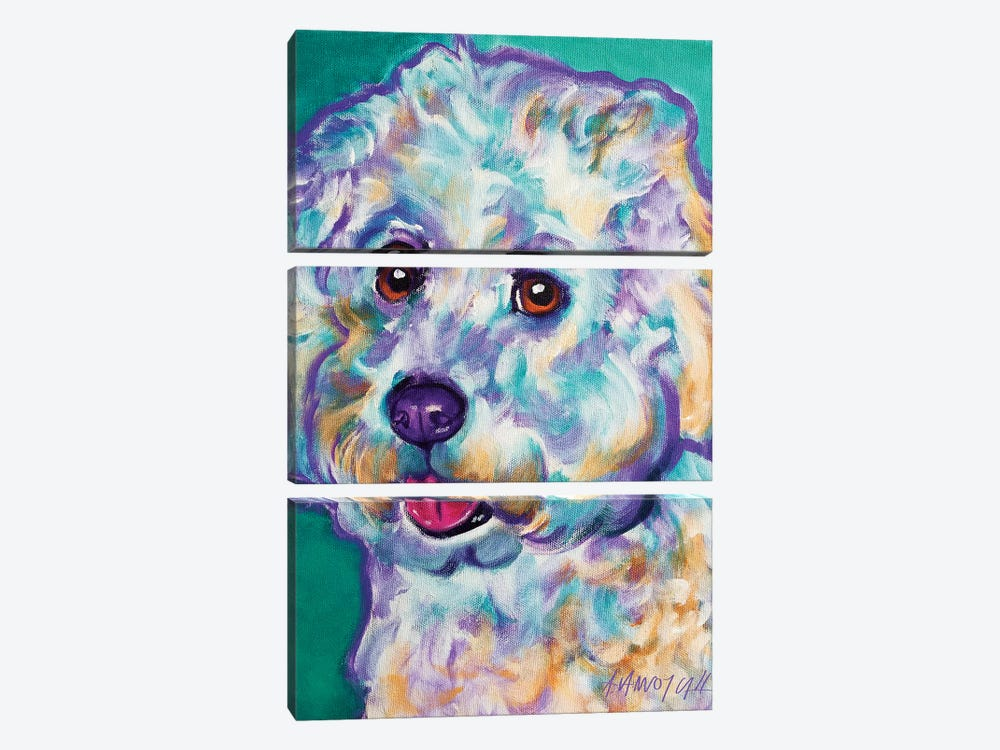 Ruben The Bichon by DawgArt 3-piece Art Print