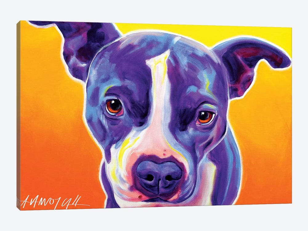 Sadie The Pit Bull by DawgArt 1-piece Canvas Artwork