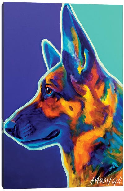 Schatze The German Shepherd Canvas Art Print