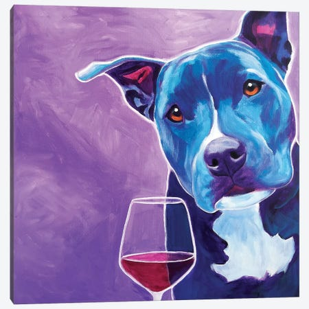 Shakti With Wine Canvas Print #DWG124} by DawgArt Canvas Wall Art