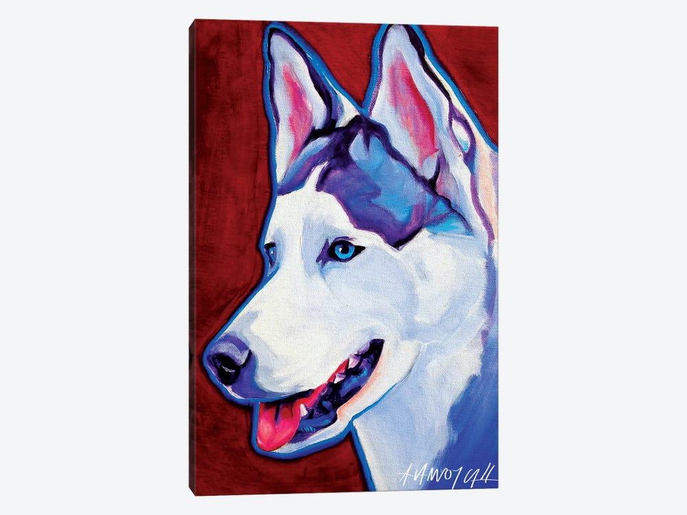 Siberian Husky by DawgArt 1-piece Canvas Print