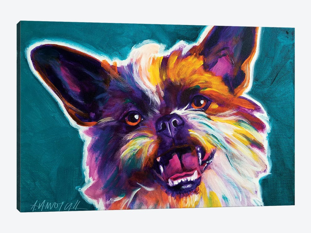 Spicey The Brussels Griffon by DawgArt 1-piece Canvas Wall Art