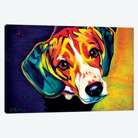 Beagle Bailey Canvas Print #DWG12} by DawgArt Canvas Art Print