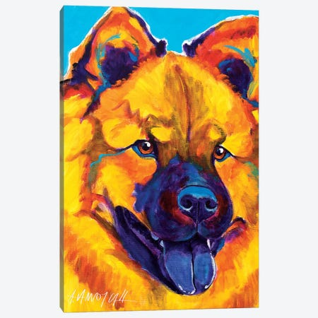 Sunshine Soul The Chow Chow Canvas Print #DWG131} by DawgArt Canvas Artwork