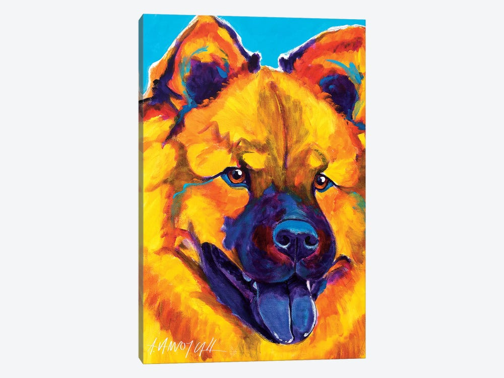 Sunshine Soul The Chow Chow by DawgArt 1-piece Canvas Artwork