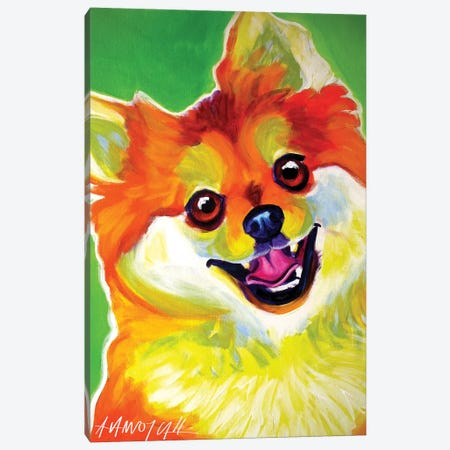 Tiger The Pomeranian Canvas Print #DWG135} by DawgArt Canvas Print