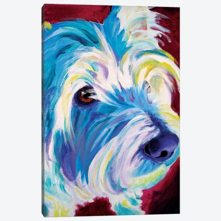 Westie Canvas Print #DWG141} by DawgArt Canvas Art Print