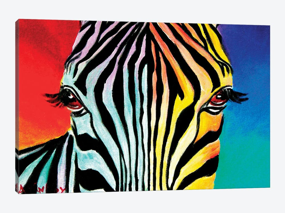 Zebra by DawgArt 1-piece Canvas Print