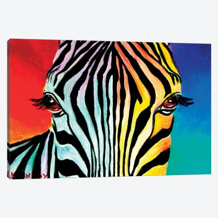 Zebra Canvas Print #DWG143} by DawgArt Art Print