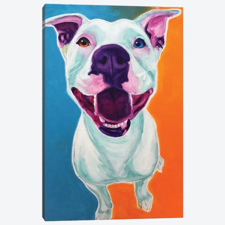 Angel The Pit Bull Canvas Print #DWG146} by DawgArt Canvas Wall Art