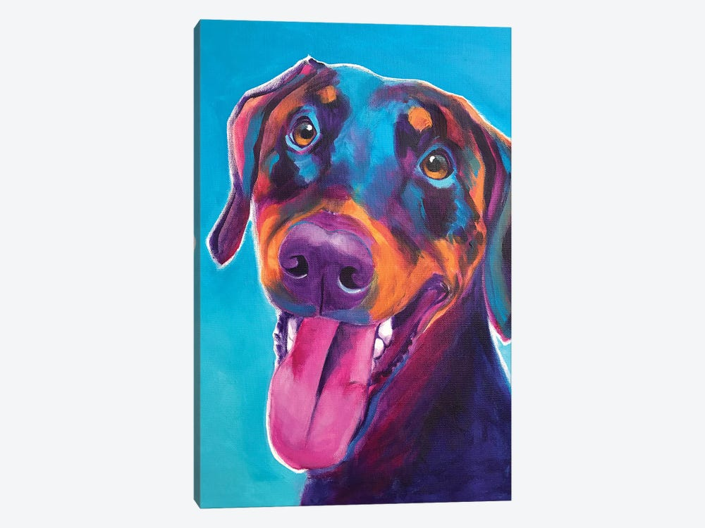 Annie The Doberman by DawgArt 1-piece Art Print