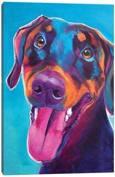 Annie The Doberman Canvas Art Print