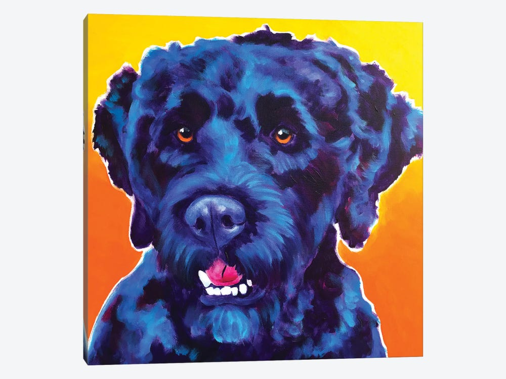 Banks The Portuguese Water Dog by DawgArt 1-piece Canvas Art