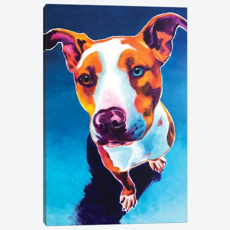 Bentley The Pit Bull Canvas Print #DWG149} by DawgArt Canvas Print