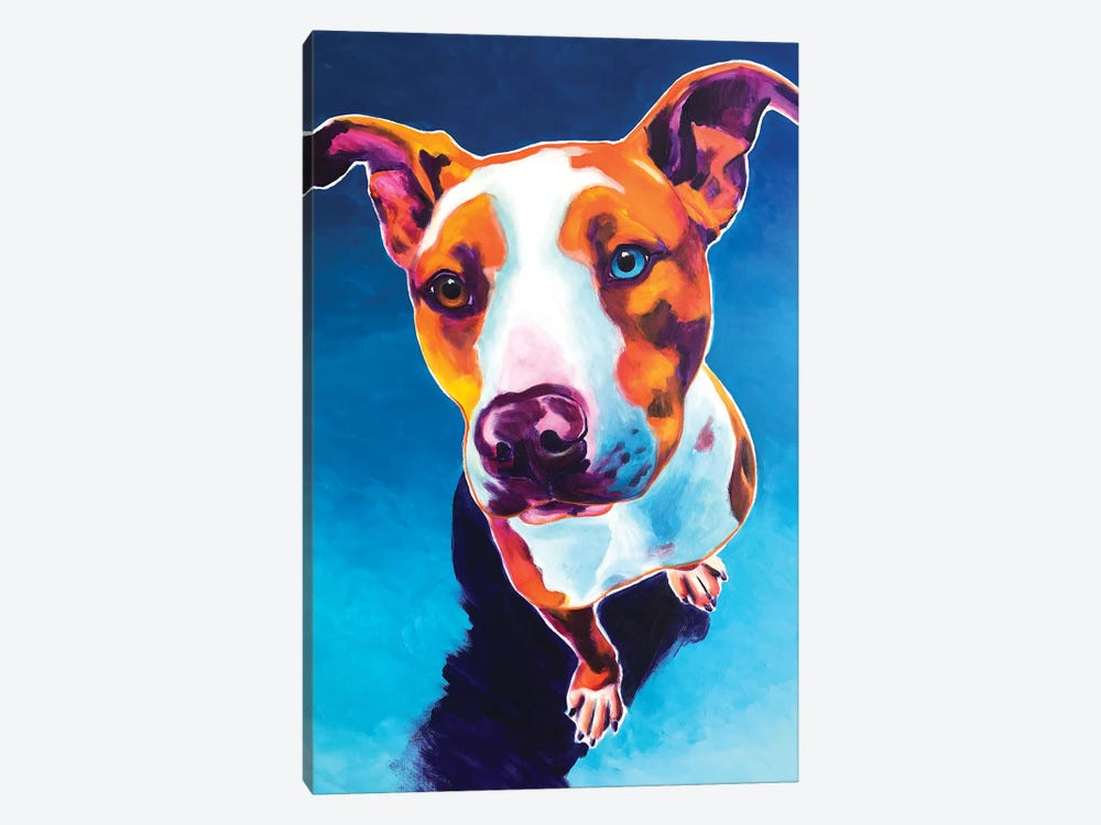 Bentley The Pit Bull by DawgArt 1-piece Art Print