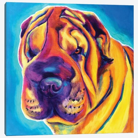 Big Man The Shar-Pei Canvas Print #DWG150} by DawgArt Canvas Artwork