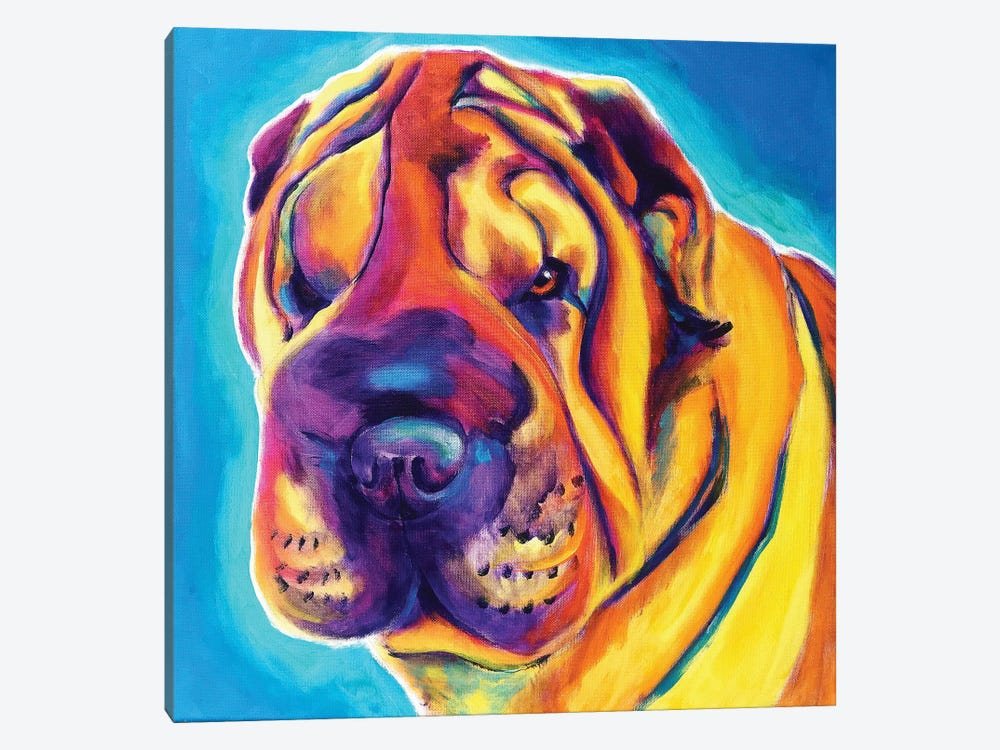 Big Man The Shar-Pei by DawgArt 1-piece Art Print