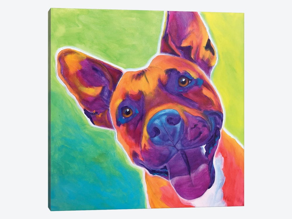 Billy The Pit Bull by DawgArt 1-piece Canvas Artwork