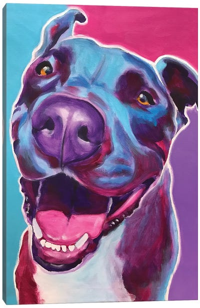 Candy The Pit Bull Canvas Art Print