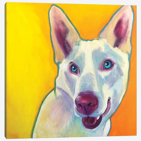 Charlie The Husky Canvas Print #DWG154} by DawgArt Canvas Art Print