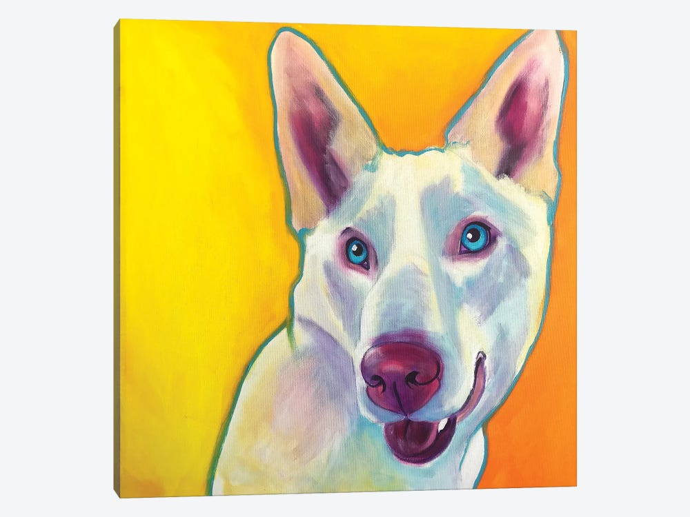 Charlie The Husky by DawgArt 1-piece Canvas Print