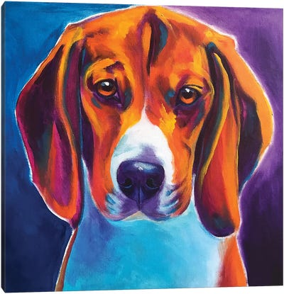 Chester The Beagle Canvas Art Print