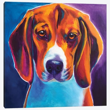Chester The Beagle Canvas Print #DWG155} by DawgArt Canvas Art Print