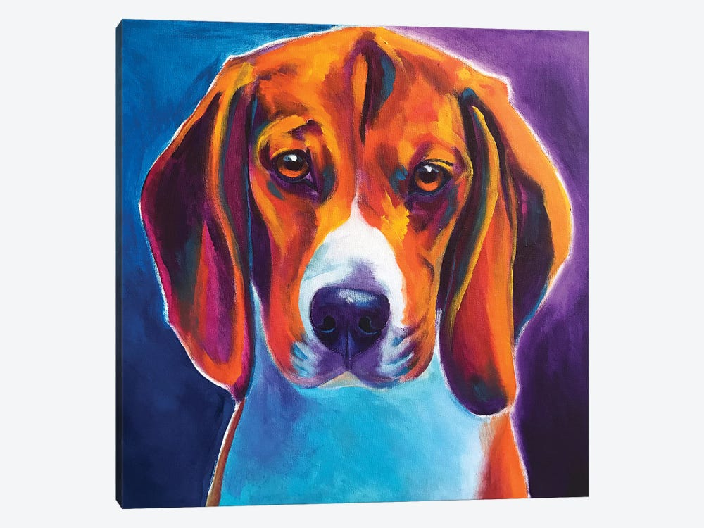 Chester The Beagle by DawgArt 1-piece Canvas Art