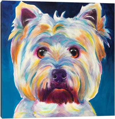 Chispy The Westie I Canvas Art Print