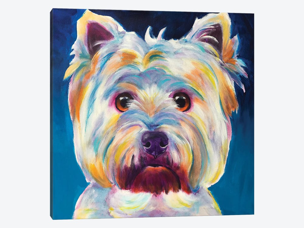 Chispy The Westie I by DawgArt 1-piece Art Print