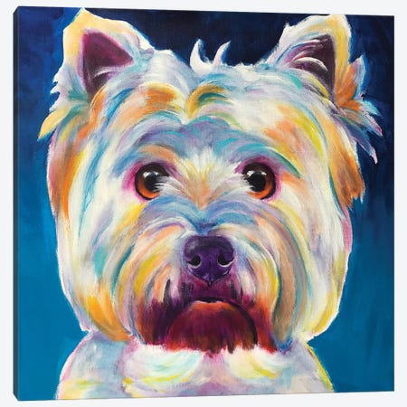 Chispy The Westie I Canvas Print #DWG156} by DawgArt Canvas Print