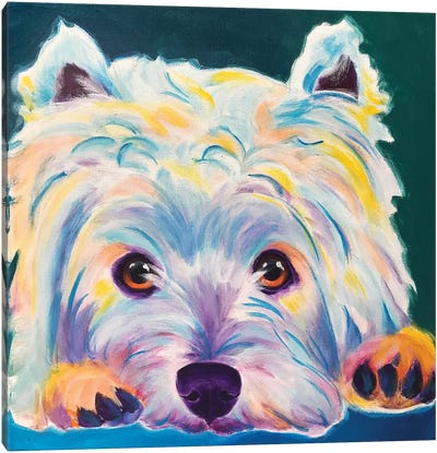 Chispy The Westie II Canvas Art Print