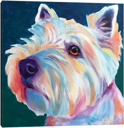 Chispy The Westie III Canvas Art Print