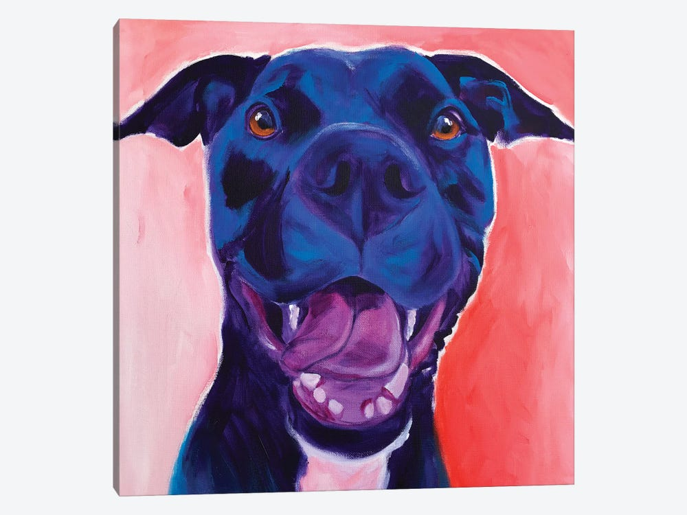 Chrysanthemum The Pit Bull by DawgArt 1-piece Canvas Wall Art