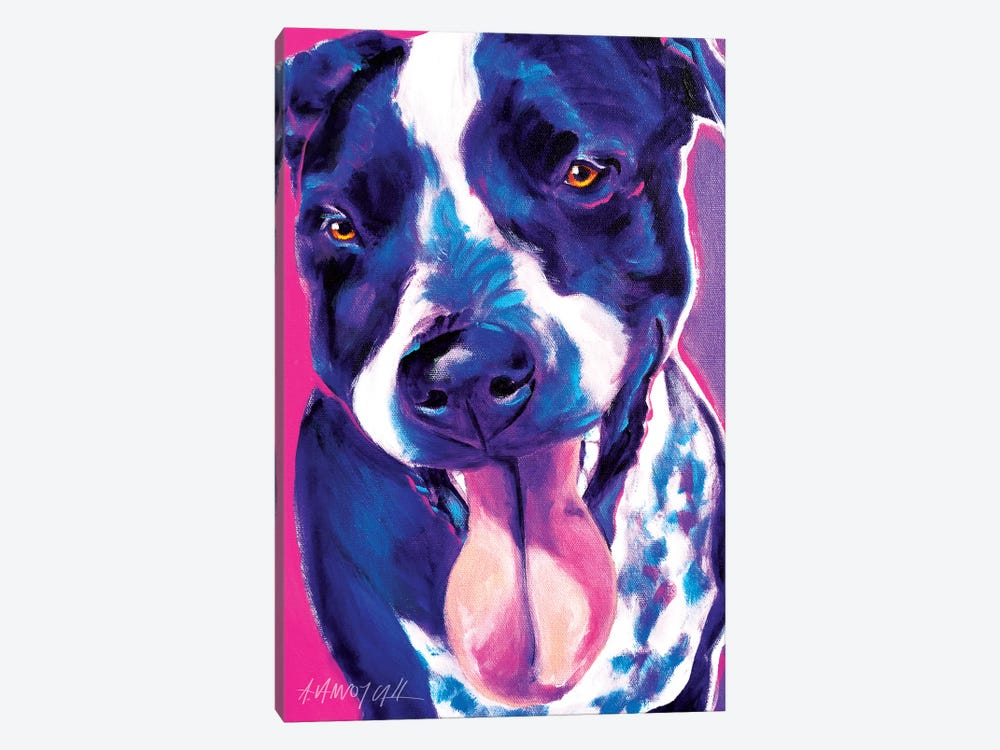 Bella The German Short Hair Pointer by DawgArt 1-piece Canvas Art