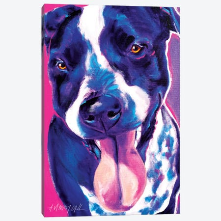 Bella The German Short Hair Pointer Canvas Print #DWG15} by DawgArt Canvas Wall Art