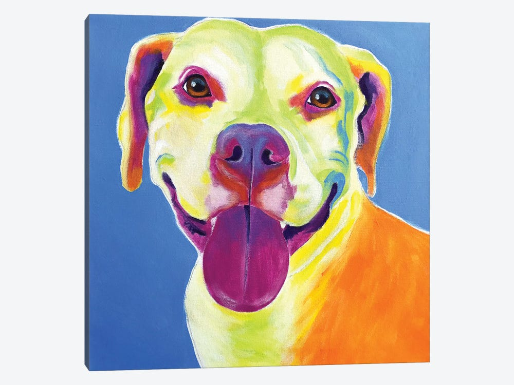 Daisy The Pit Bull by DawgArt 1-piece Canvas Art