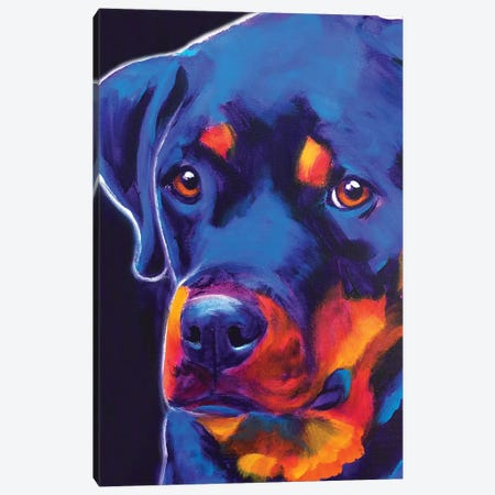 Dexter The Rottie I Canvas Print #DWG162} by DawgArt Canvas Print