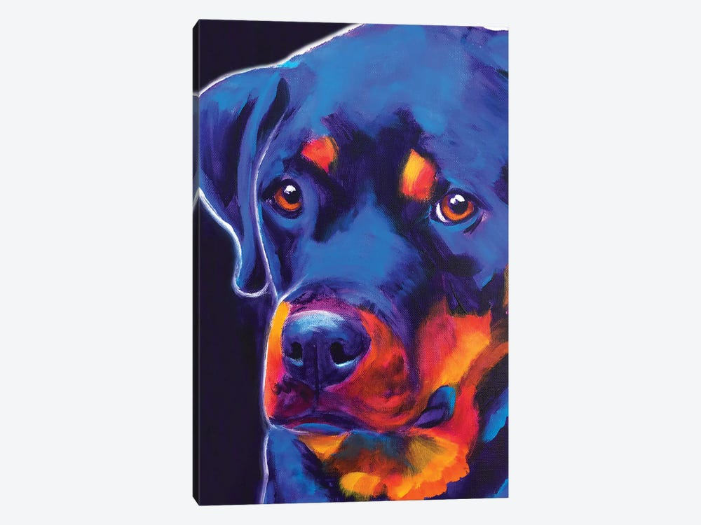 Dexter The Rottie I by DawgArt 1-piece Canvas Artwork