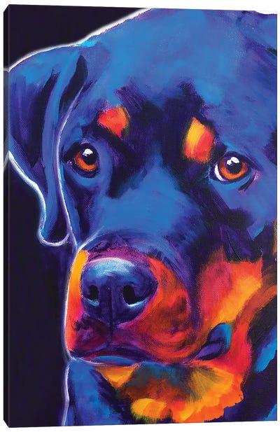 Dexter The Rottie I Canvas Art Print