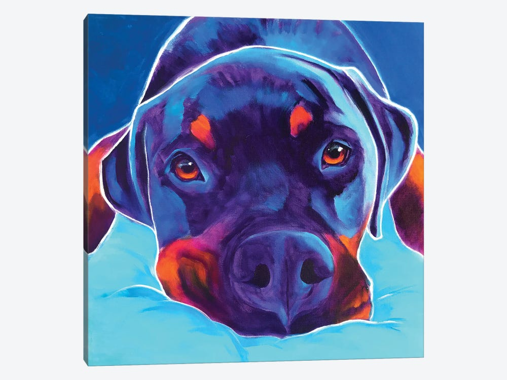 Dexter The Rottie II by DawgArt 1-piece Art Print