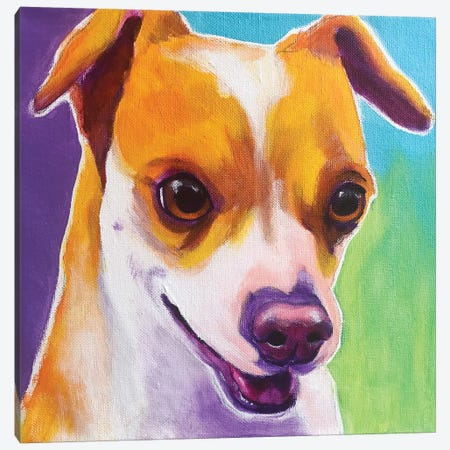 Duncan The Chihuahua Canvas Print #DWG164} by DawgArt Canvas Art
