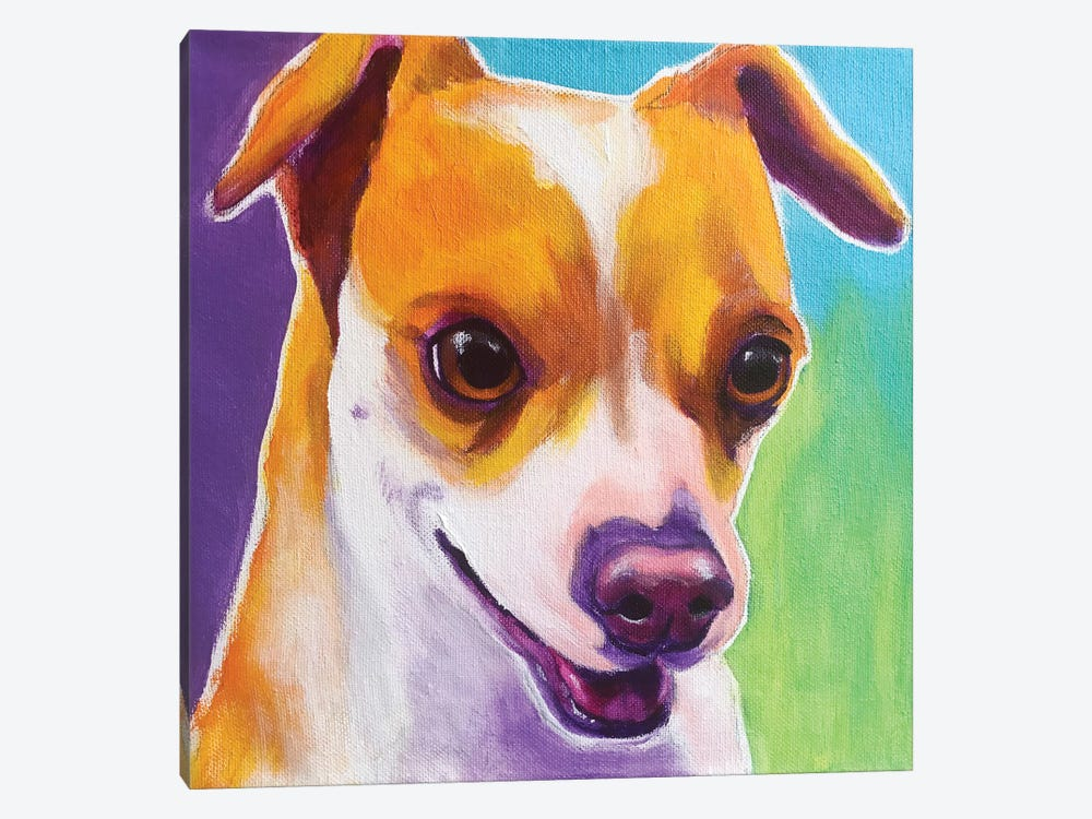 Duncan The Chihuahua by DawgArt 1-piece Canvas Art