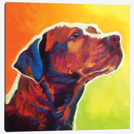 Fuji The Pit Bull Canvas Print #DWG166} by DawgArt Canvas Art