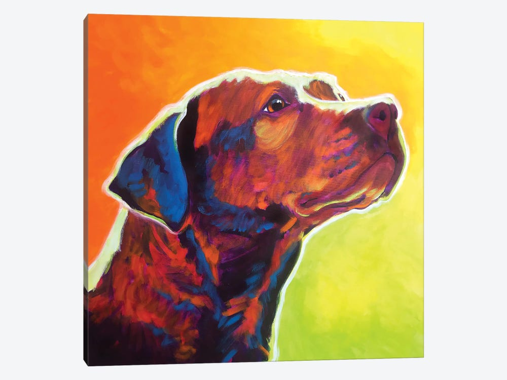 Fuji The Pit Bull by DawgArt 1-piece Canvas Wall Art