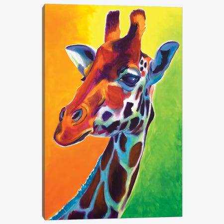 Giraffe - Summer Fling Canvas Print #DWG167} by DawgArt Canvas Artwork